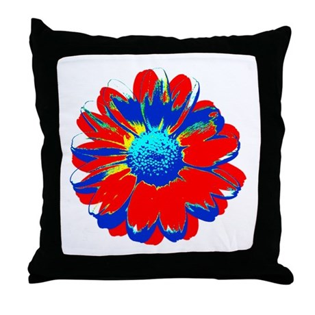 Marguerite Warhol style Throw Pillow