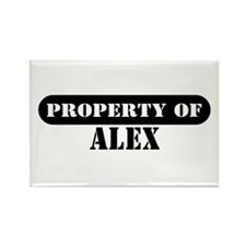 Property of Alex Rectangle Magnet