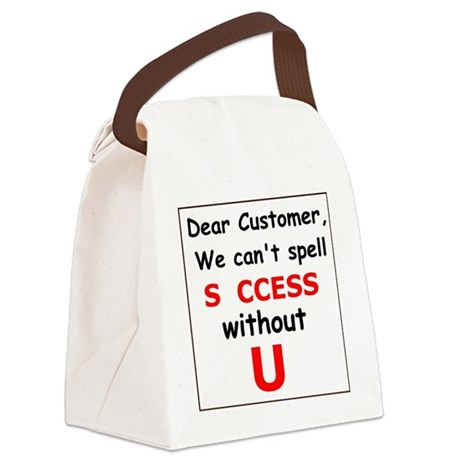 Customer Canvas Lunch Bag