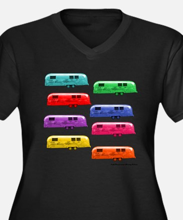Airstream trailers candy colors Plus Size T-Shirt
