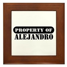 Property of Alejandro Framed Tile