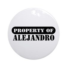 Property of Alejandro Ornament (Round)