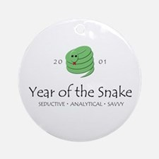 """Year of the Snake"" [2001] Ornament (Round)"