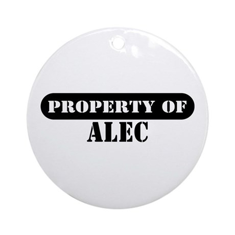 Property of Alec Ornament (Round)