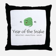 """""""Year of the Snake"""" Throw Pillow"""