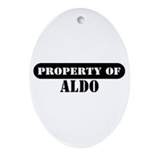 Property of Aldo Oval Ornament