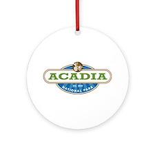 Acadia National Park Ornament (Round)