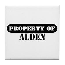 Property of Alden Tile Coaster