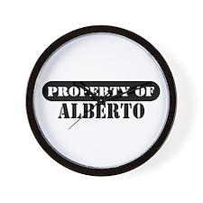 Property of Alberto Wall Clock