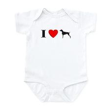 I Heart Weimaraner Infant Bodysuit
