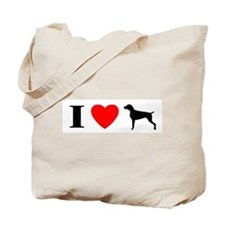 I Heart Weimaraner Tote Bag