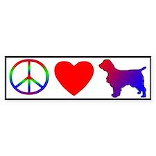 Peace, Love, Welsh Springer Spaniel Bumper Bumper Sticker