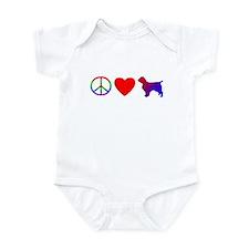 Peace Love Welsh Springer Spaniel Onesie