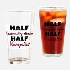 Half Commodity Broker Half Vampire Drinking Glass