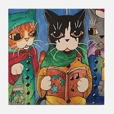 Christmas Carol Singers Tile Coaster