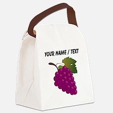 Custom Purple Grapes Canvas Lunch Bag