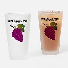 Custom Purple Grapes Drinking Glass