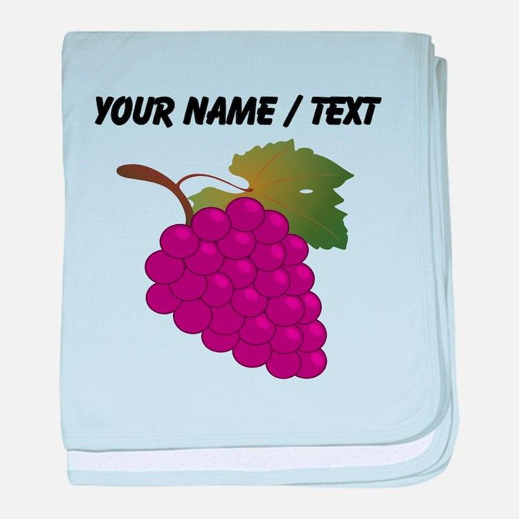Custom Purple Grapes baby blanket