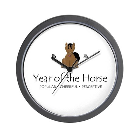 """""""Year of the Horse"""" Wall Clock"""