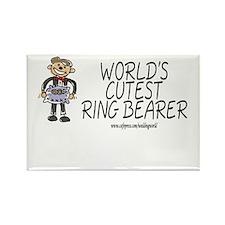 World's Cutest Ringbearer Rectangle Magnet