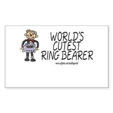 World's Cutest Ringbearer Rectangle Decal