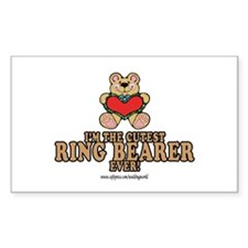 Cutest Ring Bearer Rectangle Decal