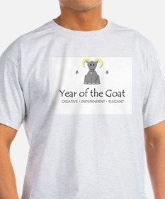 """""""Year of the Goat"""" Ash Grey T-Shirt"""