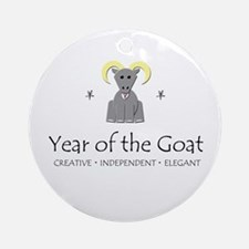 """Year of the Goat"" Ornament (Round)"
