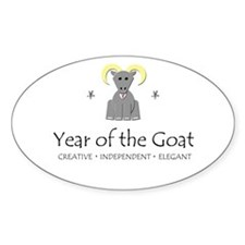 """""""Year of the Goat"""" Oval Decal"""