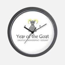 """""""Year of the Goat"""" Wall Clock"""