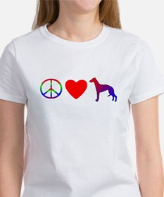Peace, Love, Whippets Tee