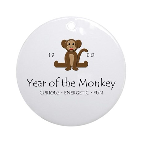 """""""Year of the Monkey"""" [1980] Ornament (Round)"""