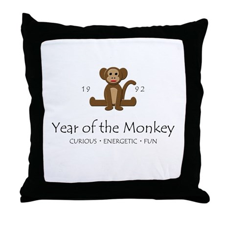 """""""Year of the Monkey"""" [1992] Throw Pillow"""