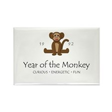 """Year of the Monkey"" [1992] Rectangle Magnet"