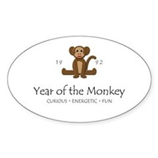 """Year of the Monkey"" [1992] Oval Decal"