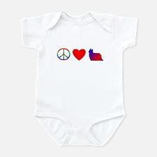 Peace, Love, Yorkie Baby Bodysuit