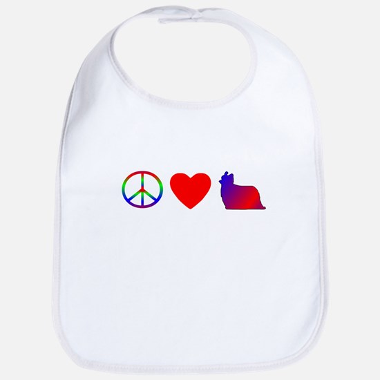 Peace, Love, Yorkies Bib