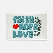 Faith Hope Love Rectangle Magnet