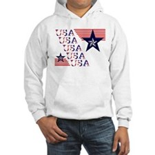 Red White and Blue Patriotic USA Hoodie