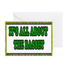 IT'S ALL ABOUT THE BASSET Greeting Cards (Package