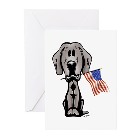 Weimaraner USA Greeting Cards (Pk of 10)