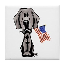 Weimaraner USA Tile Coaster