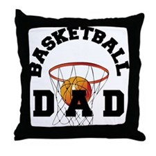 Basketball DAD Throw Pillow