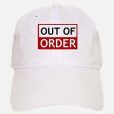 Out Of Order Sign TBBT Baseball Cap