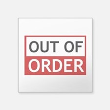 Out Of Order Sign TBBT Sticker