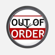 Out Of Order Sign TBBT Wall Clock