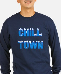 Chill Town Long Sleeve Navy T-Shirt