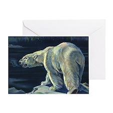 Vintage Polar Bear Greeting Card