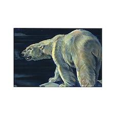 Vintage Polar Bear Rectangle Magnet