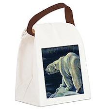 Vintage Polar Bear Canvas Lunch Bag